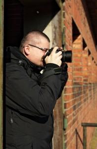 Marcin podczas robienia zdjęć
